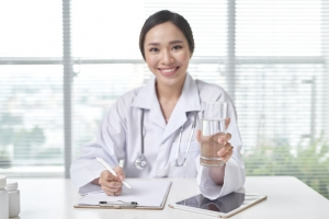 Woman holding Office Drinking Water