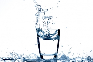 Water pouring to glass